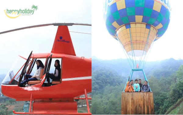 Wahana balon udara dan helikopter