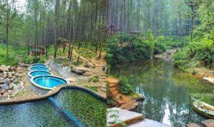 Fasilitas Wana Wisata kampung Ciherang Sumedang