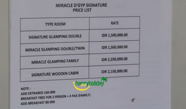 Harga sewa miracle dgyp signature ciater