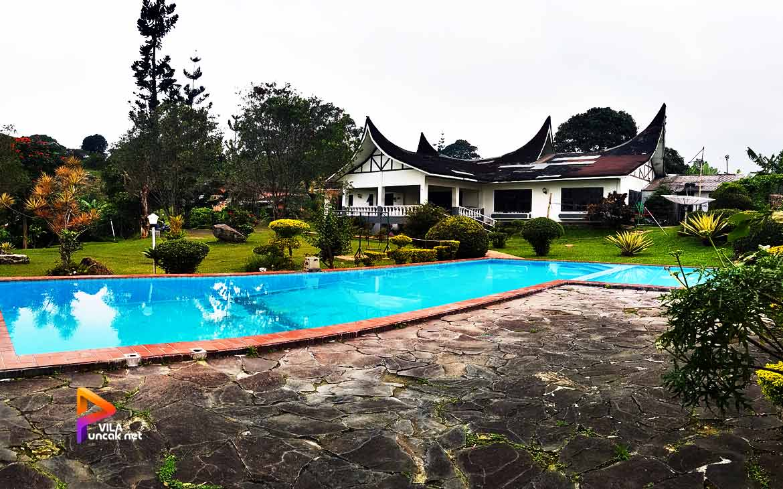 sewa villa murah di Puncak ada kolam renang