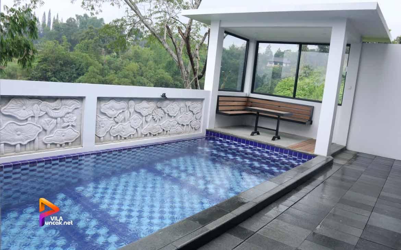 Sewa Villa Murah Di Puncak Ada Kolam Renang villa abu 2 kamar